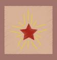 flat shading style icon star shines vector image