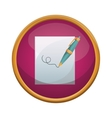 Isolated pen and paper design vector image
