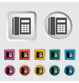 Office phone vector image