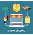 Online shoping concept vector image