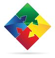 puzzled arrows vector image