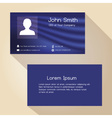 simple blue abstract color business card design vector image