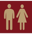 The man and woman icon Family symbol Flat vector image