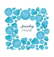 Jewelry Frame with Diamonds of Different Size vector image