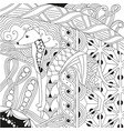 dog zentangle styled with clean lines for coloring vector image