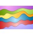 Colorful wavy design vector image vector image