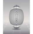 Silver Football and Field vector image