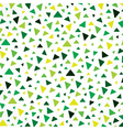 small triangle green pattern vector image