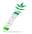 Save nature concept with pencil vector image
