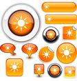 Sun orange signs vector image