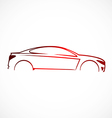 car abstract automotive concept logo vector image