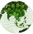 Environmental theme with plant on earth vector image