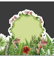 Tropical flower design floral icon natural vector image