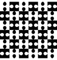 Black and white puzzle seamless pattern vector image