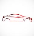 Car abstract automotive concept logo vector image