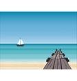 Navy pier yacht horizon vector image