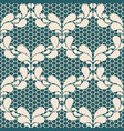 seamless light lace pattern on blue background vector image