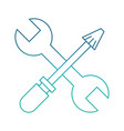 wrench and screwdriver design vector image