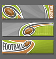 horizontal banners for american football vector image