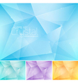 crsytal abstract background vector image vector image