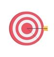 Darts aim board Successful shot vector image
