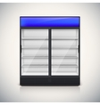 Double fridge with glass door vector image vector image