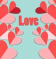 Beautiful with red heart vector image vector image