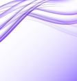 Purple and white waves modern futuristic abstract vector image