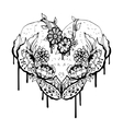 Abstract black and white heart vector image