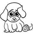 baby puppy cartoon coloring page vector image