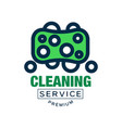 colored cleaning logo badge emblem or label in vector image