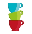 colorful cups set graphic vector image