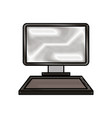 computer laptop device technology digital software vector image