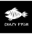 crazy fish mascot design template vector image