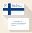 Finland flag color business card design eps10 vector image