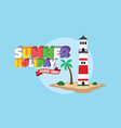 Summer holiday retro cartoon theme vector image