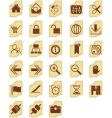 icon buttons vector image vector image