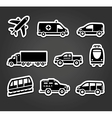 Set of stickers transport icons vector image vector image