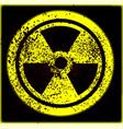 caution radioactive vector image
