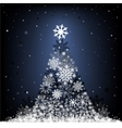 snow fir-tree vector image vector image