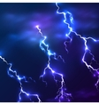 Blue shining lightnings background vector image