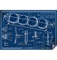 Vintage Kids Plane Project on Blueprint vector image
