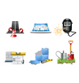 renovation icons vector image