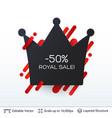 black friday royal sale badge vector image