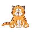 Cartoon cat vector image