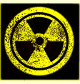 caution radioactive vector image