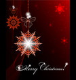 christmas dark red design vector image