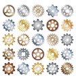 gears icons set vector image