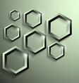 modern metallic polygonal shape with shadow vector image