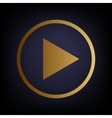 Play sign Golden style icon vector image